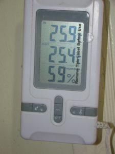 جهاز قياس الحرارة ورطوبة الجو