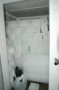 تخزين الثلج