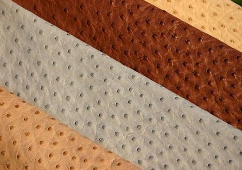 جلود النعام: صناعة جلود النعام، استخدام جلود النعام